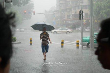 Guangzhou im Regen