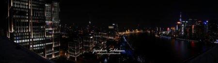 Shanghai Nachtpanorama