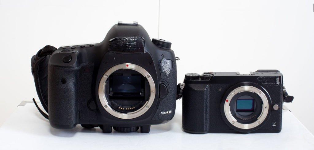 Canon und Lumix Body