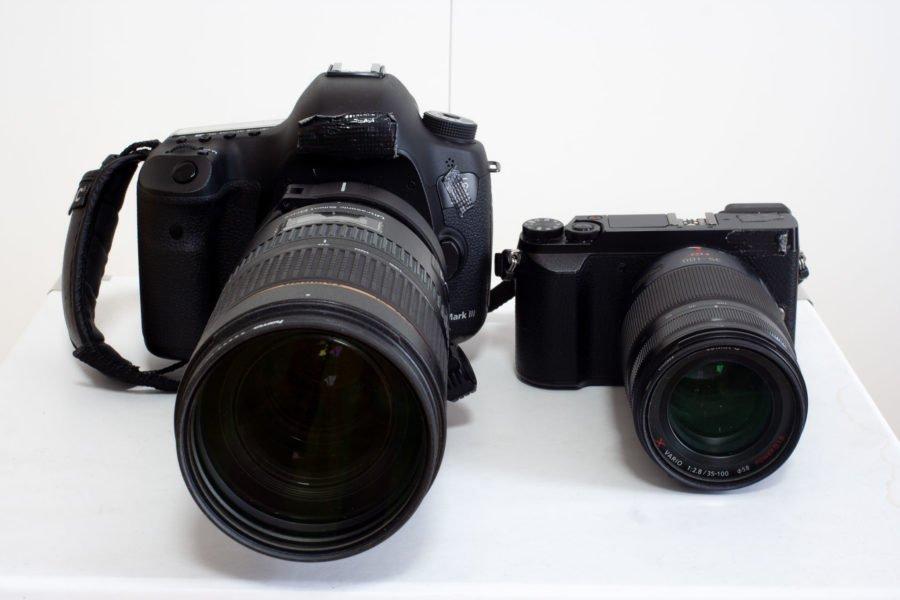 Canon und Lumix von vorn